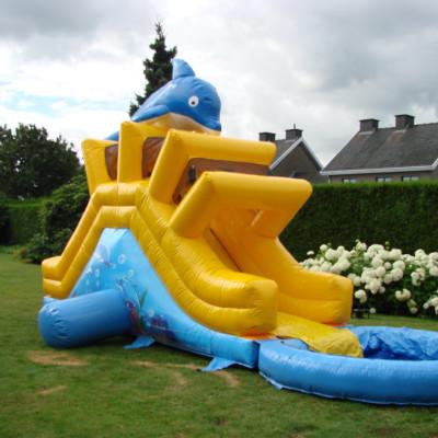 Onze leuke glijbaan voor in de tuin, met of zonder zwembadje speciaal voor op al die zwoele zomerdagen die zo kenmerkend zijn voor ons land.